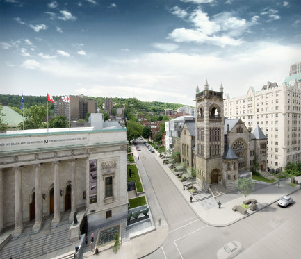 Press kit | 696-05 - Press release | The Montreal Museum of Fine Arts unveils the architecture of its new pavilion ofQuebec and Canadian Art and of its new concert hall - Montreal Museum of Fine Arts (MMFA) - Institutional Architecture - Photo credit: MBAM