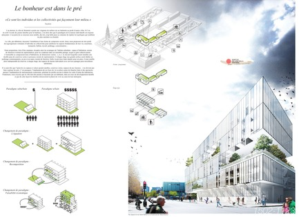 Press kit | 801-06 - Press release | Announce of the results of the urban design ideas contest for the Quartier Latin - Arrondissement de Ville-Marie - Competition -   POPULAR ONLINE FAVOURITE <br><br>Atelier Barda/ Patrick Morand<br>Patrick Morand<br>LE BONHEUR EST DANS LE PRÉ