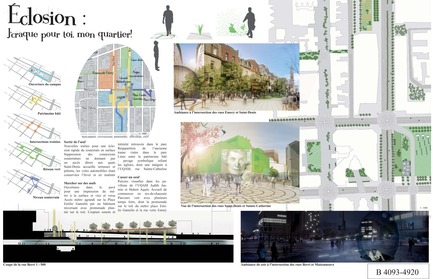 Press kit | 801-06 - Press release | Announce of the results of the urban design ideas contest for the Quartier Latin - Arrondissement de Ville-Marie - Competition - MENTION OF THE JURY<br><br>Les projets Lavigne + Zaraté inc. <br>Jean François Lavigne, Architecte<br>LE PROJET ÉCLOSION