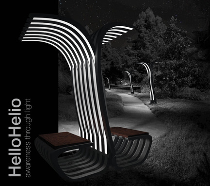 Press kit | 512-04 - Press release | Outdoor lighting concepts rewarded at the SIDIM - Fondation CLU de Philips Lumec - Competition - FINALISTE<br>Marcel Perez-Pirio et Dane Pressner / HelloHelio<br><br>Brooklyn, USA<br>