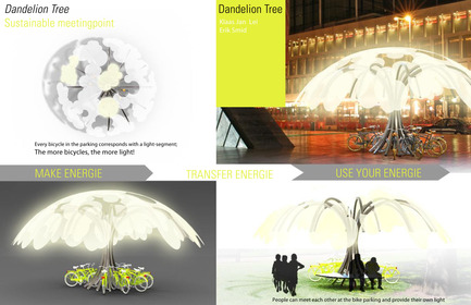 Press kit | 512-04 - Press release | Outdoor lighting concepts rewarded at the SIDIM - Fondation CLU de Philips Lumec - Competition - TROISIÈME PRIX / EX-AEQUO<br><span></span>Klass Jan Lei et Erik Smid / Dandelion Tree<br><br>Amsterdam, The Netherlands<br>