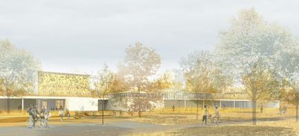 Press kit | 721-03 - Press release | Entry for the competition for the Saint-Laurent Library - Chevalier Morales Architectes / FABG - Competition - Photo credit: Chevalier Morales architectes