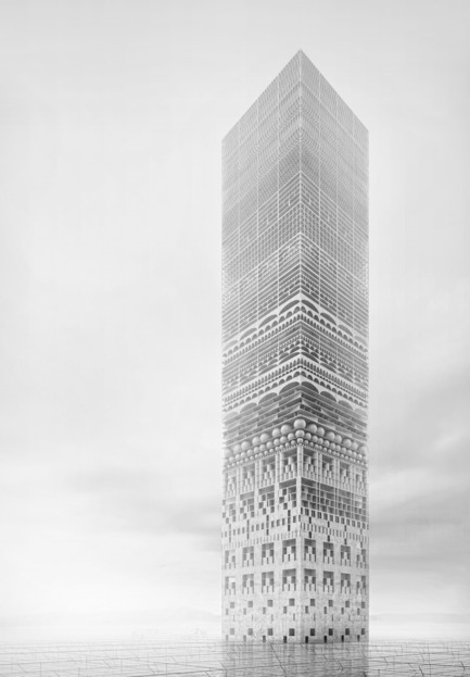 Press kit | 1127-01 - Press release | Winners 2014 eVolo Skyscraper Competition - eVolo Magazine - Competition -  Honorable Mention. The New Tower Of Babel. Petko Stoevski (Germany)www.evolo.us/competition/the-new-tower-of-babel