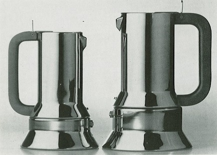 Press kit | 1171-02 - Press release | Countdown to the opening of BIO 50, the Biennial of Design in Ljubljana, Slovenia - Museum of Architecture and Design (MAO), Ljubljana - Event + Exhibition - Espresso Coffee-Pots, 1979, 1980, 1981, designer R. Sapper, producer: Alessi SpA, Italy, honourable mention at BIO 9 (1981). - Photo credit: Designer's archive