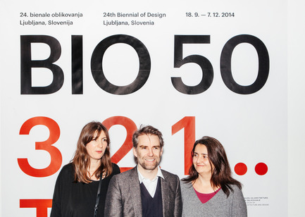 Dossier de presse | 1171-02 - Communiqué de presse | Countdown to the opening of BIO 50, the Biennial of Design in Ljubljana, Slovenia - Museum of Architecture and Design (MAO), Ljubljana - Event + Exhibition - Maja Vardjan, Jan Boelen and Cvetka Pozar, curatorial team of BIO 50.  - Crédit photo : Lucijan & Vladimir.