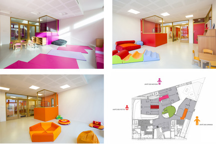 Press kit | 1052-04 - Press release | Daycare Nursery and collective housing Quai de la Charente - Margot-Duclot architectes associés (MDaa) - Residential Architecture - Crèche Unités pédagogiques - Photo credit:  MDaa