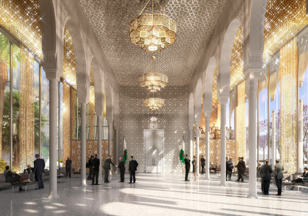 Press kit | 1188-03 - Press release | New Algerian Parliament - Bureau Architecture Méditerranée - Institutional Architecture -  People's National Assembly - Republic of Algeria<br>Hall of honor  - Photo credit: Bureau Architecture Méditerranée