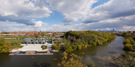 Press kit | 1389-01 - Press release | AIA Chicago honors the worldwide presence of outstanding work from Chicago architecture firms - AIA Chicago - Competition - CITATION OF MERIT <br> WMS Boathouse at Clark Park – Chicago, IL – Studio Gang Architects <br>  - Photo credit:         Steve Hall, Hedrich Blessing