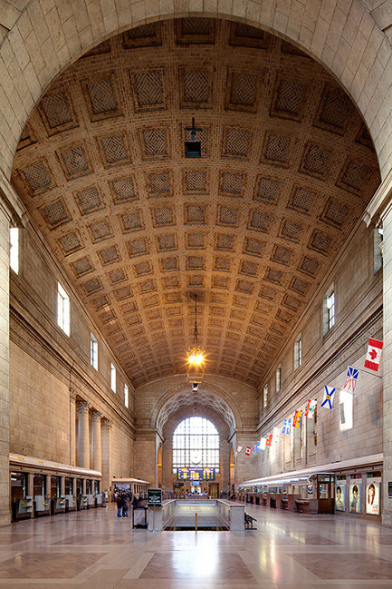 Press kit | 612-09 - Press release | Julia Gersovitz receives the Harley J. McKee Award - Fournier, Gersovitz, Moss, Drolet et associés architectes (FGMDA) - Institutional Architecture -    Great Hall, Union Station Revitalization Project, Toronto, with NORR<br>    - Photo credit: Francis Tousignant, FGMDA