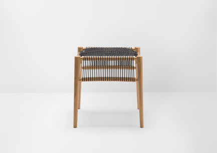 Press kit | 1539-01 - Press release | Loom Collection by H: Inspired by Mexican Tradition - H - Industrial Design -  Loom Stool<br>H: 48cm; W: 52cm; D: 45cm<br>Oak, Black Cords<br>Designer: Hierve  - Photo credit: Peter Guenzel