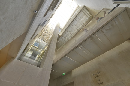 Press kit | 924-02 - Press release | Vincent van Gogh Foundation  Rehabilitation, extension. - Fluor Architecture - Institutional Architecture - Then of light with panoramic elevator and footbridges - Photo credit: ©Hervé Hôte