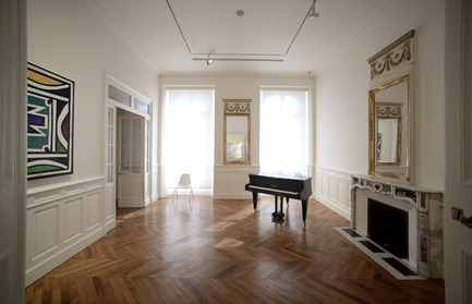 Press kit | 924-02 - Press release | Vincent van Gogh Foundation  Rehabilitation, extension. - Fluor Architecture - Institutional Architecture - Exhibition room_ ©Bertrand Lavier - Photo credit:   ©Fluor Architecture