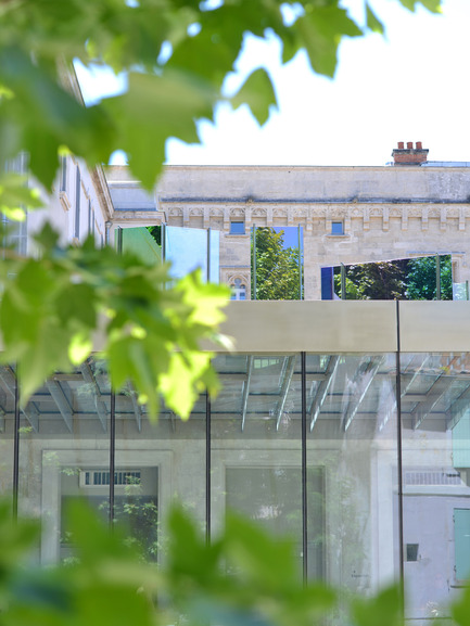 Press kit | 924-02 - Press release | Vincent van Gogh Foundation  Rehabilitation, extension. - Fluor Architecture - Institutional Architecture - Public entrance_Detail - Photo credit:  ©Hervé Hôte