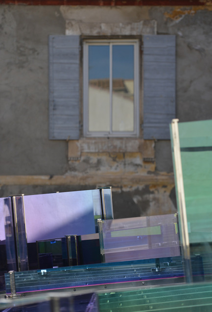 "Press kit | 924-02 - Press release | Vincent van Gogh Foundation  Rehabilitation, extension. - Fluor Architecture - Institutional Architecture -  Work of the artiste Raphael Hefti_Detail_""The Violet Blue Green Yellow Orange Red House""_2014 - Photo credit: ©Hervé Hôte"