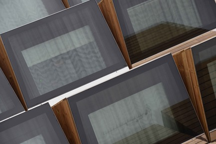 Press kit | 924-02 - Press release | Vincent van Gogh Foundation  Rehabilitation, extension. - Fluor Architecture - Institutional Architecture - Sheds on the wood deck_Detail - Photo credit: ©Hervé Hôte