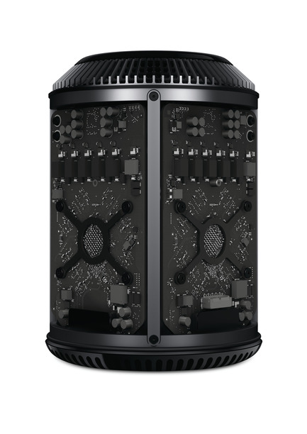 "Press kit | 1173-02 - Press release | Winners announce -DFA Awards 2014 - Hong Kong Design Centre (HKDC) - Competition - Project Title: Mac Pro<br>Winning Company: Apple, Inc. (USA)<br><br>""This remarkable change of design could last another 10 years or even longer."" Tetsuyuki Hirano, Design for Asia Awards 2014 Judge <br><br>Synopsis: It's the most powerful yet radical Mac ever designed by Apple. Deliberate or not, there is no danger of mistaking this new Mac Pro for any of its predecessors. In terms of looks alone, it could not be more revolutionarily different. The central concept is that of a unified thermal core – all the parts are clustered around this. As a result, the design is ""a much leaner, lighter, quieter and far more streamlined structure"". Standing at just 9.9 inches tall and 6.6 inches in diameter, it is easily accommodated on the desk of an average workstation. It has built-in Thunderbolt 2, USB 3, two Gigabit Ethernet ports and an HDMI port (support for the latest TVs, projectors, displays, including Ultra HD TVs), so users can build what they need around it."