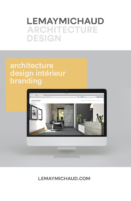Press kit | 618-11 - Press release | New visual identity and redesigned website - LEMAYMICHAUD Architecture Design - Graphic Design -  LEMAYMICHAUD Architecture Design
