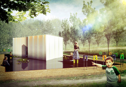 "Press kit | 837-11 - Press release | The International Garden Festival announces the designers for its 16th edition - International Garden Festival / Reford Gardens - Landscape Architecture -  SE MOUILLER (la belle échappée) by Groupe A / Annexe U [Jean-François Laroche, architect, Rémi Morency, architect and urbanist, Erick Rivard, architect & Maxime Rousseau, architect], Québec (Québec) Canada.<br><br>The installation explores the discussion about invasive species and the delicate balance of ecosystems. Here plants will be kept in a kind of vise that visitors will be invited to enter. The plant will escape over the course of the summer. Loss of control? When what is beautiful becomes dangerous...the experience will be repeated as the garden invites visitors to engage physically with the garden. Gone is simple contemplation. The call to participate is also an invitation to interact and share in the common environment of the wetland. ""Don your boots and get wet"" offers a chance to discover a completely different space.<br><br>Groupe A / Annexe U is an architectural firm from Quebec City that have developed a unique expertise in land management, urban planning and urban design. For the members of this multidisciplinary team, the participation of and interaction with the client and other stakeholders, are at the heart of every project. The sensitivity with which they approach each project and their creativity has contributed to the success of the firm, which has garnered them awards and made them finalists in many compétitions.  - Photo credit: Groupe A / Annexe U"