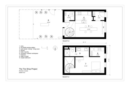Press kit | 1608-01 - Press release | The Tire Shop Project - Mark+Vivi - Residential Architecture - Plans - Photo credit: MARK+VIVI