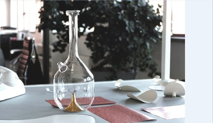 Press kit | 1604-01 - Press release | Design Days Dubai 2015 - Gallery Announcement - Design Days Dubai - Event + Exhibition -  David And Nicolas, 'Bree' (Glass Carafe) 2014  - Photo credit: Courtesy of Art Factum Gallery