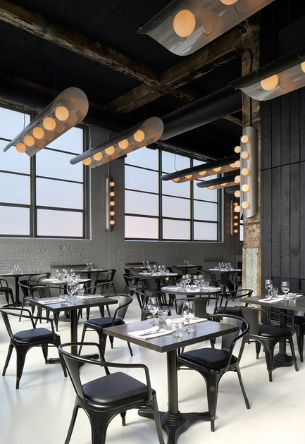 Dossier de presse | 673-10 - Communiqué de presse | GalaGRANDS PRIX DU DESIGN 8e édition. Et les lauréats sont... - Agence - Évènement + Exposition - RESTAURANT ET BAR  <br>Prix restaurant de plus de 2 000 pi²<br><br>Restaurant Le Serpentin <br>situ atelier d'architecture<br> - Crédit photo : James Brittain