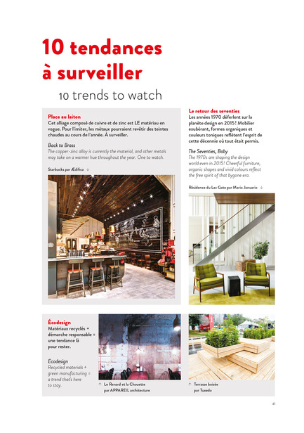 Press kit | 611-17 - Press release | Index-design launches the 6th edition of the Guide – 200 interior designers from Quebec - Index-Design - Edition - Tendances - Photo credit: Index_design