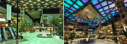 Press kit | 621-20 - Press release | A Dynamic NewLighting Signature for Complexe Desjardins - Lightemotion - Lighting Design -  Complexe Desjardins - Retail Concourse - Before and After   - Photo credit: LIghtemotion