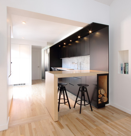Press kit | 1198-01 - Press release | St-Philippe Residence - ATELIER GÉNÉRAL architecture - Residential Architecture - Kitchen - Photo credit: Atelier Général