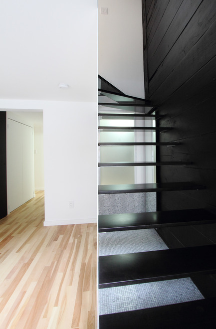 Press kit | 1198-01 - Press release | St-Philippe Residence - ATELIER GÉNÉRAL architecture - Residential Architecture - Staircase - Photo credit: Atelier Général