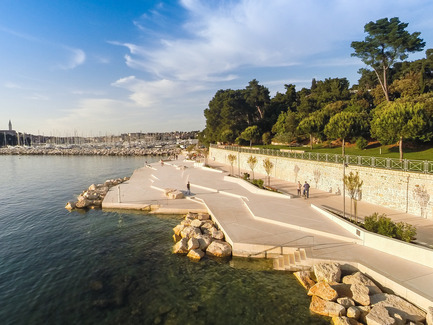 Press kit | 809-15 - Press release | Azure announces the finalists of the fifth annual AZ Awards - Azure Magazine - Competition - Landscape Architecture: 3LHD: Mulini Beach, Rovinj, Croatia<br> - Photo credit:  AZ Awards 2015