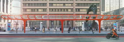Press kit | 809-15 - Press release | Azure announces the finalists of the fifth annual AZ Awards - Azure Magazine - Competition - Concepts / Prototypes: AECOM: Chicago Loop BRT Station<br> - Photo credit:  AZ Awards 2015