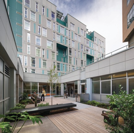 Press kit | 1187-03 - Press release | Announcing AIA San Francisco 2015 Design Awards winners - American Institute of Architects, San Francisco Chapter (AIA SF) - Competition - Rene Cazenave Apartments by LMS Architects  and Saida + Sullivan Design Partners - Photo credit: Tim Griffith