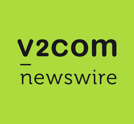 "Press kit | 1402-01 - Press release | v2com shows its true colours! - v2com newswire - Event + Exhibition - Branding for Value #1: ""Building a better world"". v2com goes green! - Photo credit: v2com newswire"