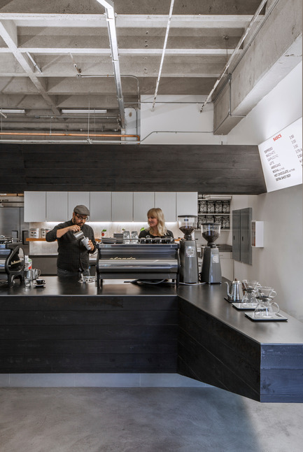 Press kit | 1771-01 - Press release | Coffee Bar Revitalizes Area - jones | haydu - Commercial Architecture - View of barista station - Photo credit: Art Gray