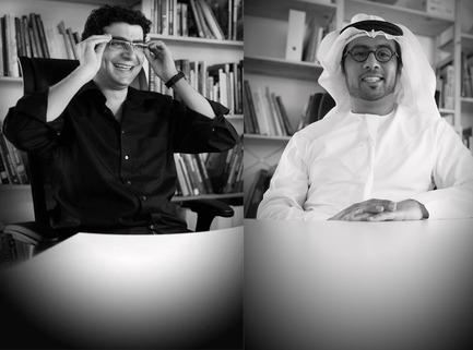 Press kit | 1834-01 - Press release | IntroducingDubai Design Week key initiatives: 'Abwab' and 'Destination' - Dubai Design Week - Event + Exhibition -  Partners of loci Architecture + Design <br>Hani Fallaha and Hamad Khoory   - Photo credit: loci Architecure + Design