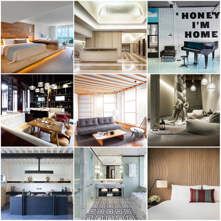 Press kit | 1124-06 - Press release | Shortlist announced for the World Interiors News Awards 2015 - World Interiors News - Commercial Interior Design - World Interiors News Awards 2015 <br>Hotel Category Shortlist<br><br>Top row, left to right: <br>1 Hotel South Beach by Meyer Davis Studio Inc.<br>Knickerbocker Hotel by Gabellini Sheppard Associates<br>The Student Hotel by ...,staat<br><br>Middle row, left to right: <br>The Heritage House Hotel by HWCD Associates<br>Yasuragi by White arkitekter AB<br>Hotel Ulrichshof  by noa* - network of architecture<br><br>Bottom row, left to right: <br>Château de la Resle by CDLR Design<br>The Beaumont by Richmond International<br>Doubletree by Hilton Melbourne by M&L Hospitality<br> - Photo credit: Various