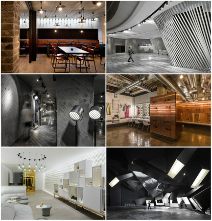 Press kit | 1124-06 - Press release | Shortlist announced for the World Interiors News Awards 2015 - World Interiors News - Commercial Interior Design - World Interiors News Awards 2015 <br>Leisure or Entertainment Venues Category Shortlist<br><br>Top row, left to right: <br>The Everyman Theatre by Haworth Tompkins with Citizens Design Bureau<br>   Coastal Cinema by   One Plus   Partnership (Hong Kong) Limited<br><br>Middle row, left to right: <br>Luminary by One Plus   Partnership (Hong Kong) Limited<br>1Rebel by Studio C102<br><br>Bottom row, left to right: <br>The Agua Spa by Design Research Studio<br>Exploded by  One Plus   Partnership (Hong Kong) Limited - Photo credit: Various