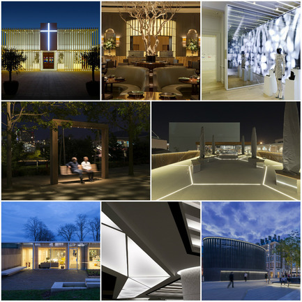 Press kit | 1124-06 - Press release | Shortlist announced for the World Interiors News Awards 2015 - World Interiors News - Commercial Interior Design - World Interiors News Awards 2015 <br>Lighting Projects Category Shortlist<br><br>Top row, left to right: <br>Dar Tal-Providenza | Entrance Courtyard by Galea&Galea Architects<br>Fera at Claridge's by Lighting Design International<br>Galeria Melissa by IDL<br><br>Middle row, left to right: <br>Queen Elizabeth Olympic Park by Speirs + Major<br>UK Pavilion, Milan Expo 2015 by BDP<br><br>Bottom row, left to right: <br>Maggie's Centre, Lanarkshire by Speirs + Major<br>   Food court at INTU Lakeside by Lighting Design International<br>Kings Cross Square by studioFRACTAL<br> - Photo credit: Various