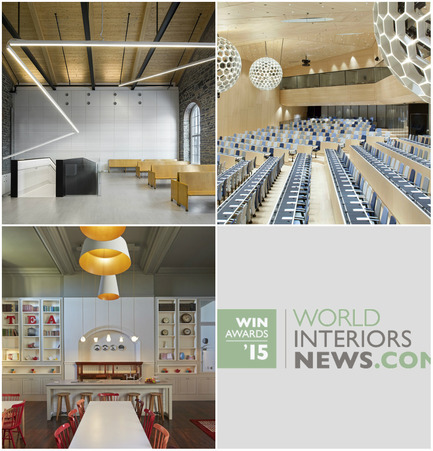 Press kit | 1124-06 - Press release | Shortlist announced for the World Interiors News Awards 2015 - World Interiors News - Commercial Interior Design - World Interiors News Awards 2015 <br>Public Sector Shortlist<br><br>Top row, left to right: <br>   Montmagny Courthouse by    CCM2   architectes + Groupe A + Roy-Jacques Architectes<br>   WIPO/OMPI Conference Hall by    Behnisch   Architekten<br><br>Bottom row:<br>   Roedean School by    Buckley   Gray Yeoman<br> - Photo credit: Various