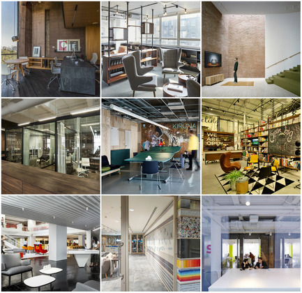 Press kit | 1124-06 - Press release | Shortlist announced for the World Interiors News Awards 2015 - World Interiors News - Commercial Interior Design - World Interiors News Awards 2015<br>Workspace Interiors Less Than 10,000 SQ. M Category Shortlist <br><br>Top row, left to right: <br>   CM2 offices by Taller   Leticia Serrano<br>   Henry Wood House by BuckleyGrayYeoman<br>   NY Advertising Agency by Marge   Arkitekter<br><br>Middle row, left to right: <br>   FiftyThree, Inc by +ADD<br>   Kiruna Office by White   arkitekter AB<br>   Open, Tel Aviv by studio   dan troim<br><br>Bottom row, left to right: <br>   GLG Global Headquarters by    Clive   Wilkinson Architects   NOTONTHEHIGHSTREET.COM Office by Studiofibre<br>The Swivel Space by Spark Architects - Photo credit: Various