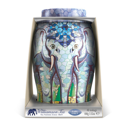 Press kit | 902-04 - Press release | Call for entries to the International A' Design Award & Competition 2016 - A' Design Award and Competition - Competition - Williamson Tea Elephant Caddies Packaging by Springetts Brand Design Consultants - Photo credit: Springetts Brand Design Consultants, 2014.