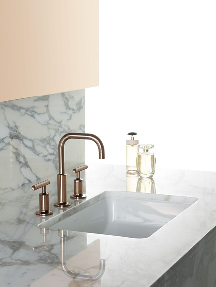 Press kit | 1834-04 - Press release | Downtown Design announces final exhibitor list and showcases new talent alongside established - Downtown Design - Event + Exhibition - Kohler<br>Rose gold collection<br> - Photo credit: Kohler