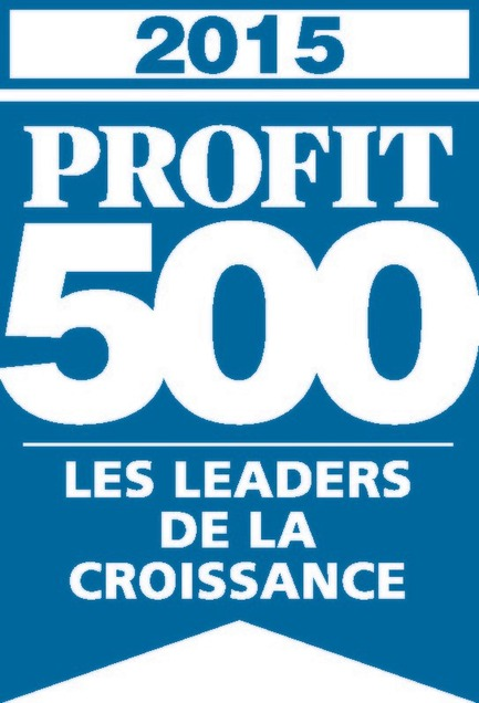 Press kit | 1152-04 - Press release | LumiGroup ranks No. 370 on the 2015 PROFIT 500 - LumiGroup - Competition - PROFIT 500 blue logo (french version) - Photo credit:  PROFIT 500