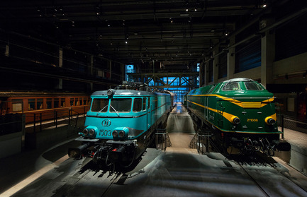 Dossier de presse | 621-21 - Communiqué de presse | Multisensory experience at the new Belgian railway museum Train World - Lightemotion - Lighting Design - Crédit photo : Marie-Francoise Plissart