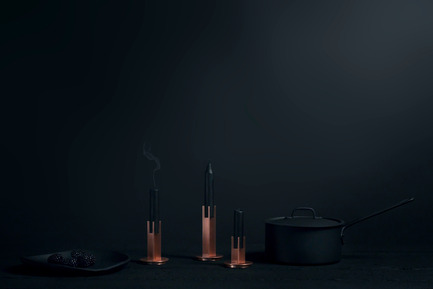 Press kit | 1097-04 - Press release | Launching Larose Guyon, object design studio - Larose Guyon - Product - CANDLESTICK, Victor set of 3 - Photo credit: Larose Guyon