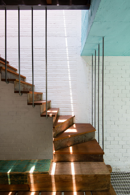 Press kit | 1256-01 - Press release | Saigon house - a21studĩo - Residential Architecture - Another stair  - Photo credit: Quang Tran
