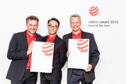 "Press kit | 1696-02 - Press release | Regular registration phase for the Red Dot Award: Product Design2016 starts – first jurors confirmed - Red Dot Award - Competition - In 2015, Hilti Corporation received a Red Dot: Best of the Best for the rotating laser ""Hilti PR 30-HVS"". - Photo credit: Red Dot"
