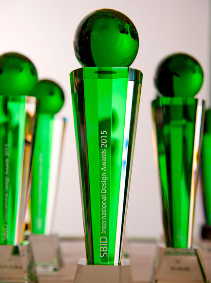 Press kit | 1437-01 - Press release | The SBID International Design Awards 2015 Revealed - SBID - The Society of British & International Design - Competition - SBID Awards Trophy 2015 - Photo credit: SBID Awards 2015