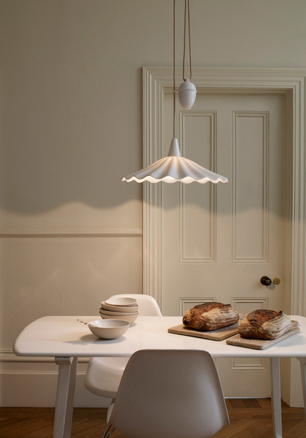 "Press kit | 2023-01 - Press release | British lighting manufacturer Original BTC launches new collections for SS16 - Original BTC - Lighting Design - Original BTC  Christie Rise & Fall pendant, bone china,  <a href=""http://www.originalbtc.com"">www.originalbtc.com</a> +207 351 2130   - Photo credit: Original BTC"