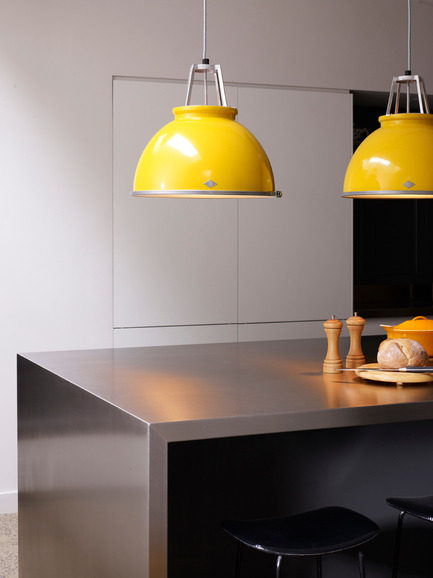 "Press kit | 2023-01 - Press release | British lighting manufacturer Original BTC launches new collections for SS16 - Original BTC - Lighting Design -   Original BTC  Titan size 3 pendants in yellow  <a href=""http://www.originalbtc.com"">www.originalbtc.com</a>          +207 351 2130   - Photo credit: Original BTC"